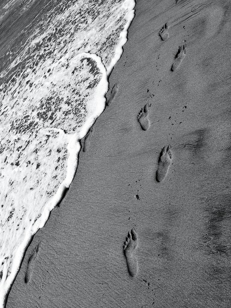 Walking On The Beach, Half Moon Bay, CA